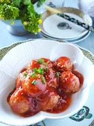 【レンジだけで5分】甘酢たっぷり肉だんご*卵なしつなぎは豆腐