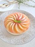 桃のミルクティーレアチーズケーキ
