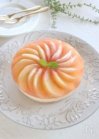 『桃のミルクティーレアチーズケーキ』