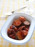 たことズッキーニのトマト煮