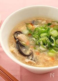 『〈くらし薬膳〉豚肉と玉子の酸辣湯スープ』