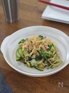 切干し大根とハムきゅうりの中華サラダ