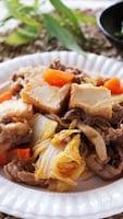 ご飯がすすんでとろーり美味しい♡豚肉と厚揚げと白菜の甘酢炒め