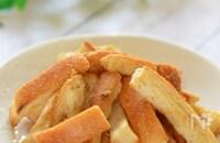 子供のおやつに♪フライパンで作る☆きな粉風味のパン耳ラスク