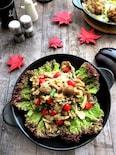秋の香りが満載!ヘルシーなきのこたっぷり玄米サラダ
