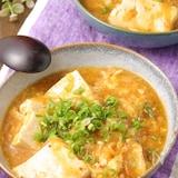 鍋ひとつでできる♪かき玉キムチあんかけ豆腐