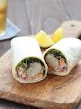 塩鯖と野菜のラップサンド