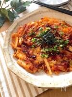 食感もよくておつまみにもぴったり♡長芋もちキムチーズ焼き