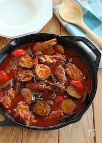 『スペアリブと夏野菜のトマト煮込み』