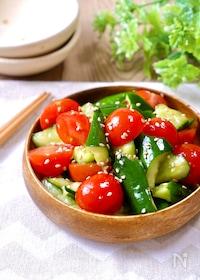 『水っぽくないから美味しい!『きゅうりとミニトマトの中華和え』』