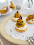 かぼちゃのモンブラン風カナッペ