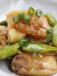 鶏もも肉とスナップえんどうのサッパリ炒め