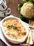チキンとカリフラワーの白味噌豆乳グラタン