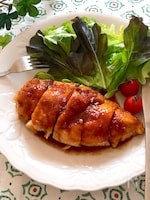 マヨ効果で柔らか美味しい♡鶏むね肉の黒酢照り焼き