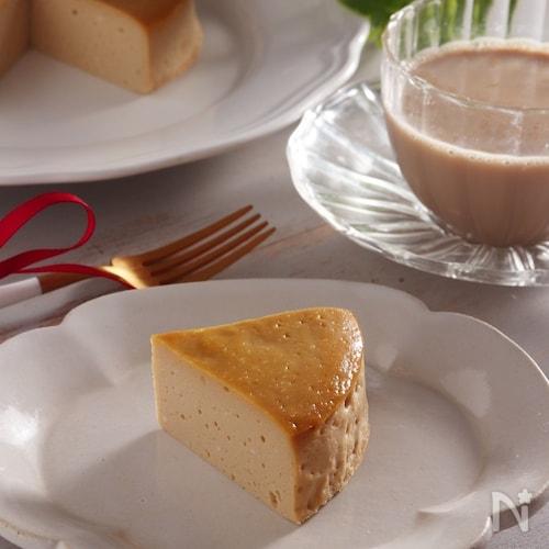 ワンボウルで簡単!豆乳ヨーグルトで作るチーズケーキ風ケーキ。