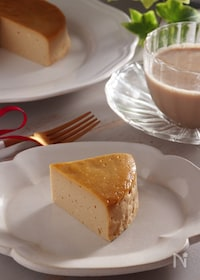 『ワンボウルで簡単!豆乳ヨーグルトで作るチーズケーキ風ケーキ。』