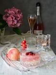 ぷるしゅわ♡ピーチ&ロゼワインゼリー