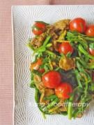 夏バテにも。カレー粉で夏のレバニラ炒め