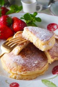 【簡単手作りリコッタで】ふわふわリコッタチーズのパンケーキ