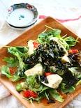 カリカリしらすと豆腐のチョレギ風サラダ
