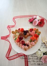 『ハートの苺ガナッシュサンドクッキー』