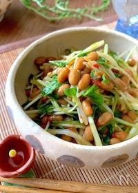 『納豆好きならハマります‼︎【健康おつまみ納豆】』