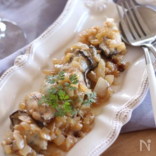 牡蠣のビネガーマヨ焼き