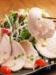 炊飯器で蒸し鶏、筋トレ食
