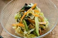 海藻たっぷり☆千切り野菜の中華サラダ