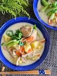 ちゃんちゃん焼き風♡秋鮭のミルクスープ