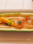 瓜の器で素麺