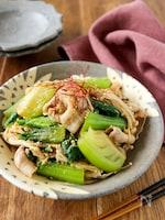 豚しゃぶとチンゲン菜とえのきの中華風サラダ