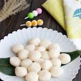 【簡単おやつ】お月見にも!甘酒と豆腐の白玉だんご