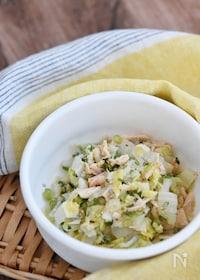 『白菜とツナのネギ塩サラダ』