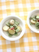 そら豆とじゃがいものぺペロンチーノ風
