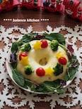 レンジで!チーズミートローフのクリスマスリース