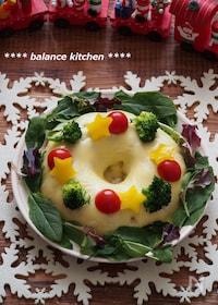 『レンジで!チーズミートローフのクリスマスリース』