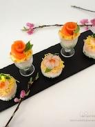 <ひなまつり>ミニカップ寿司&ミニケーキ寿司♡
