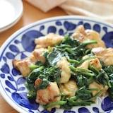 子供も喜ぶ旬野菜の食べ方♡鶏肉とほうれん草のカレーマヨソテー