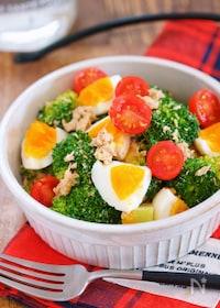 『デパ地下デリ風♪『ブロッコリーと卵とツナのごまマヨサラダ』』