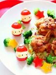 トマトとポテトサラダで作るサンタさん