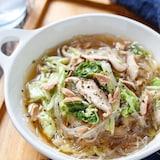 白菜とツナの中華風♡春雨スープ【#包丁不要 #ストック食材】