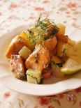 おつまみおかず♡秋鮭とじゃがいものディル風味