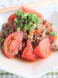 トマトとひき肉の中華炒め