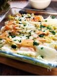 白菜とハムのコンソメスープ♪チーズ焼き
