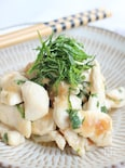 鶏ささみの梅しそ味噌炒め