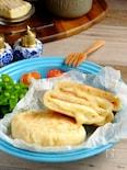 15分で焼き立て♡平焼きハム&チーズパン!【オーブン不要】