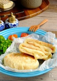 『15分で焼き立て♡平焼きハム&チーズパン!【オーブン不要】』