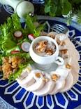 【しっとりジューシー柔らか鶏ハム】豆腐ナッツヨーグルトソース
