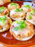 チーズがトロっと♡レンコン・キムチ・ハンバーグ